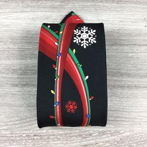Hallmark Holiday Traditions Black Christmas Tie
